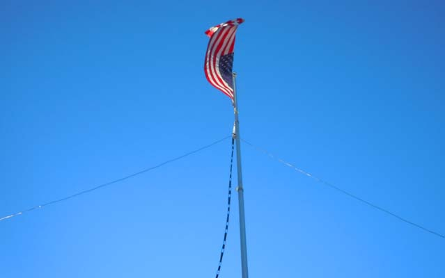 The Flag Pole that Supports the Dipole Wires and Ladder Line