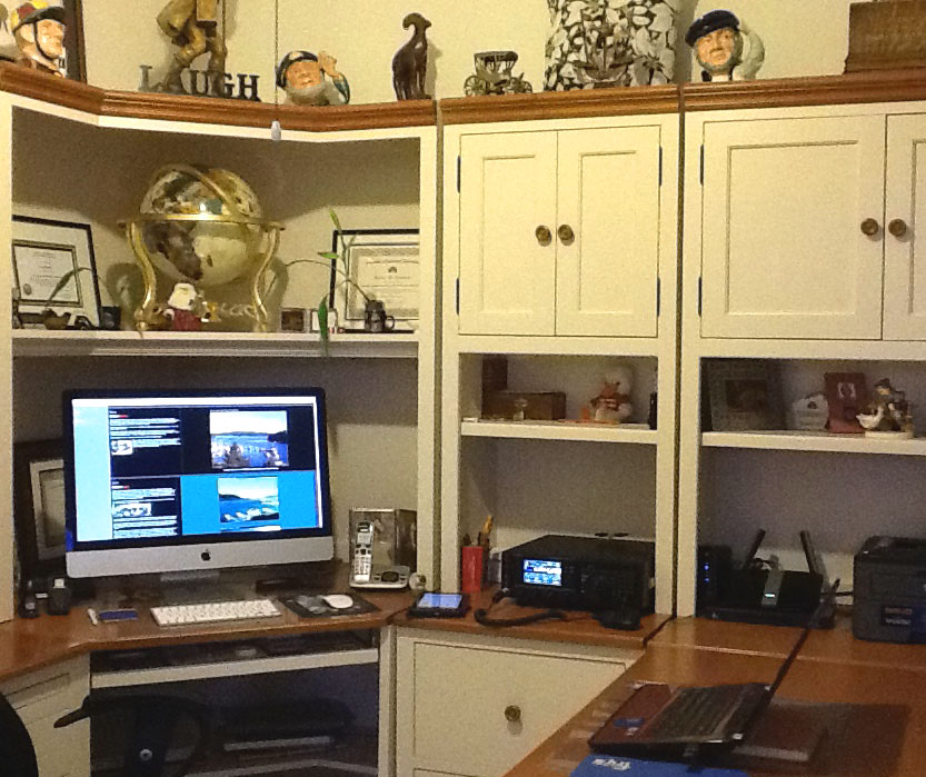 Picture of the office and FTdx1200 from Zebra